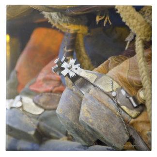 Closeup of Boots & Spurs 2 Tile
