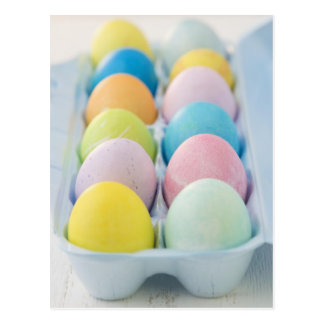 Closeup of colored Easter eggs Postcard