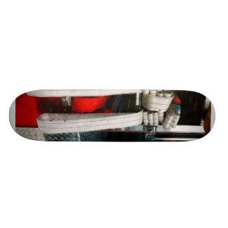 Closeup of Fire Hoses Skateboard Deck