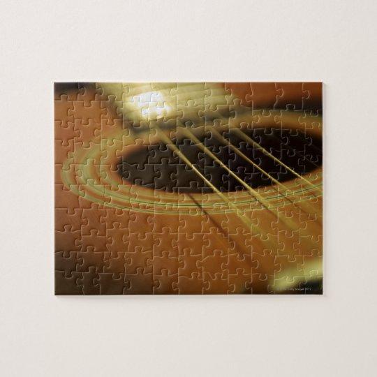 Closeup of Guitar Jigsaw Puzzle