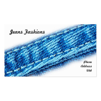 Closeup of Jeans and Denim Fabric Pack Of Standard Business Cards