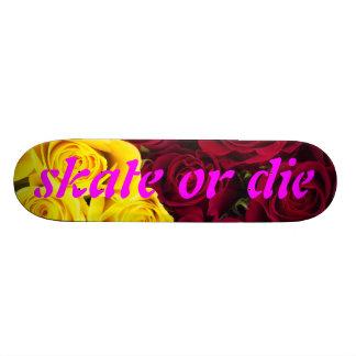 Closeup OF of roses: skate or those Skateboard