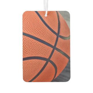 Closeup of Orange Basketball Car Air Freshener