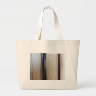 Closeup of second hand books standing on a table large tote bag