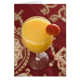 Closeup Orange Juice Greeting Card