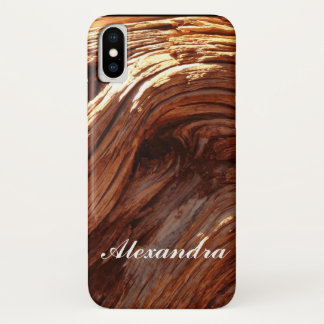 closeup photo of the rings on a tree trunk iPhone x case