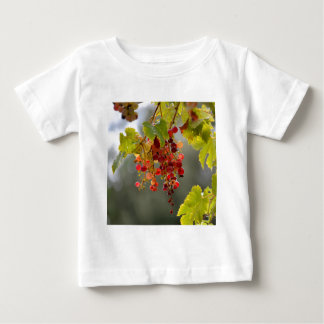 Closeup red grapes among leaves baby T-Shirt