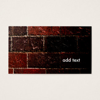 closeup view of a brick wall business card
