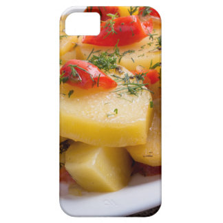 Closeup view of a vegetarian dish of stewed potato iPhone 5 cover