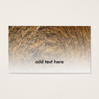 closeup view of rolled hay business card