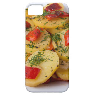 Closeup view of stewed potatoes iPhone 5 covers