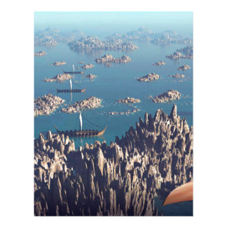 Closing In Fantasy Landscape Letterhead