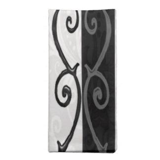 Cloth Napkin Set - 'Burtonesque Stripes and Swirls