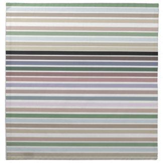Cloth Napkins In Modern Stripes