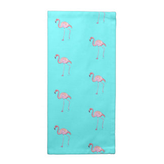 Cloth Napkins- Pink Flamingo Turquoise