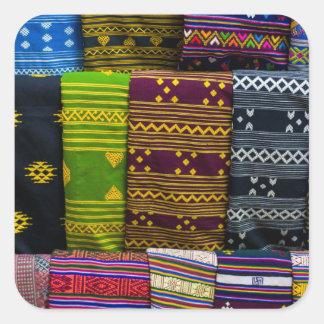 Cloth Textiles For Sale Square Sticker