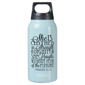 Clothed in Strength & Dignity Insulated Water Bottle