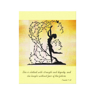 Clothed with Strength and Dignity Wall Canvas