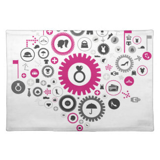 Clothes a gear wheel placemat