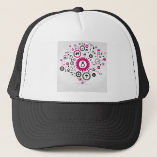 Clothes a gear wheel trucker hat