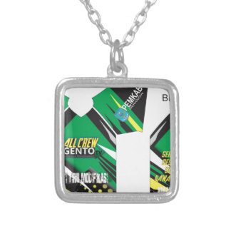 clothes design silver plated necklace