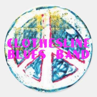 Clothesline Blues Band - Peace Sticker