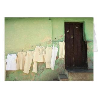 clothesline card