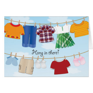 Clothesline - Greeting Card