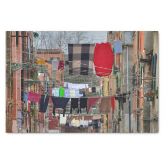Clotheslines In Venice Italy Tissue Paper