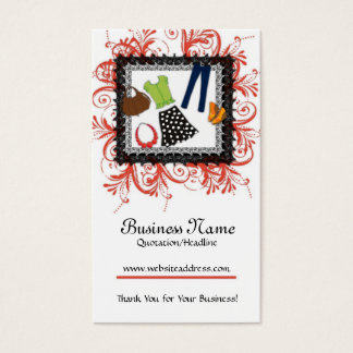 Clothing Framed Design Business Cards