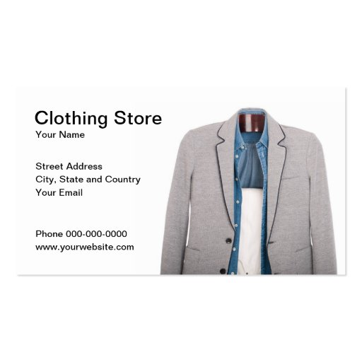 Business Cards for Clothing Stores No.21l