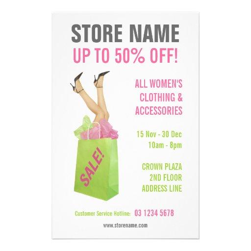 Clothing Store Sale flyer | Zazzle