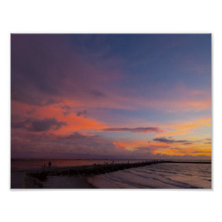 Cloud Alpenglow, Fort Pierce, Florida Poster