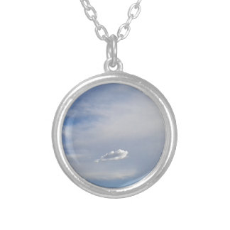 Cloud And Cloud Silver Plated Necklace