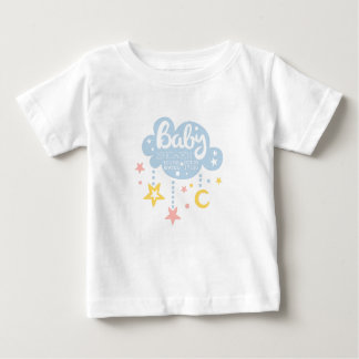 Cloud And Stars Baby Shower Invitation Design Temp Baby T-Shirt