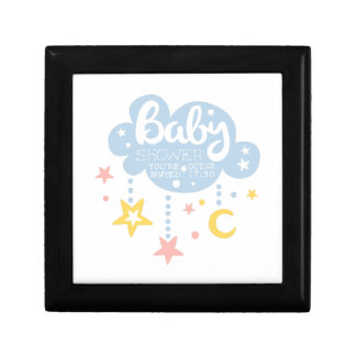Cloud And Stars Baby Shower Invitation Design Temp Gift Box