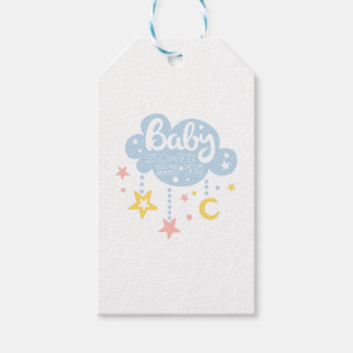 Cloud And Stars Baby Shower Invitation Design Temp Gift Tags