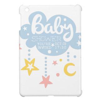 Cloud And Stars Baby Shower Invitation Design Temp iPad Mini Cover