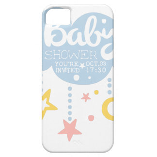 Cloud And Stars Baby Shower Invitation Design Temp iPhone 5 Case