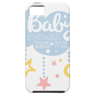 Cloud And Stars Baby Shower Invitation Design Temp iPhone 5 Cases