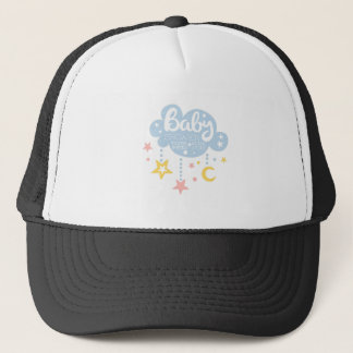 Cloud And Stars Baby Shower Invitation Design Temp Trucker Hat
