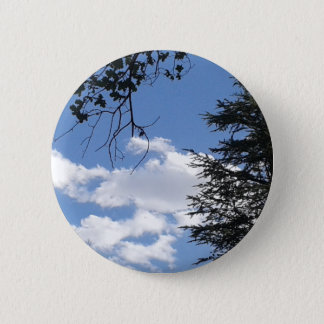 Cloud And Trees 2 Inch Round Button
