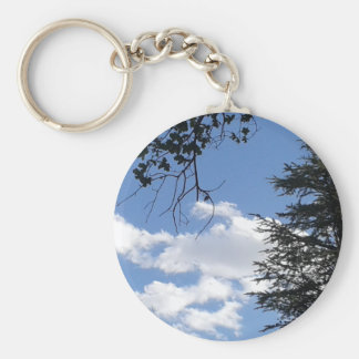 Cloud And Trees Keychain