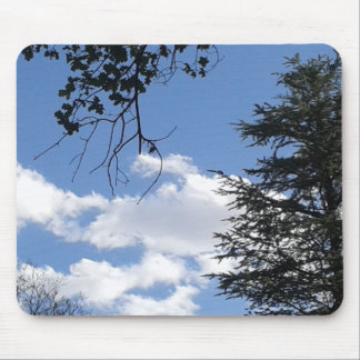 Cloud And Trees Mouse Pad