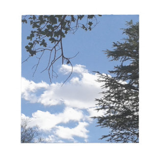 Cloud And Trees Notepad