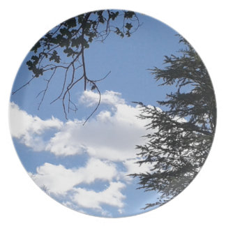 Cloud And Trees Plate