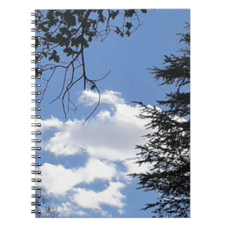 Cloud And Trees Spiral Notebook