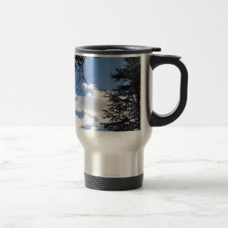 Cloud And Trees Travel Mug