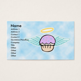 cloud background, cupcake angel no text, Name, ... Business Card
