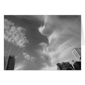 Cloud Bird, New York City, USA, noir, card